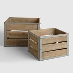 I really like how these new crates are made of both metal and wood. My husband and I are looking for some great crates that we can use for organization purposes in our home. We will definitely have to find some new ones like these since they look very strong.