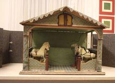 Rarität: Original Pferdestall mit 6 Pferden von Christian Hacker - uralt
