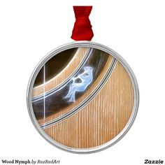 Wood Nymph Round Metal Christmas Ornament