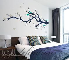 Wall Decals Tree Wall Art Vinyl Stickers  Cherry by WallDefinition, $68.00    oooor, I could just paint it myself.