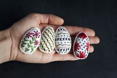 Miniature Rhino: Easter Egg Embroidery Pattern For You...
