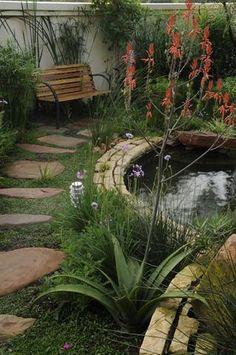 Garden and Home Brick Garden, Garden Bridge, Aquarium, Home And Garden, Outdoor Structures, Gardening, Landscape, Outdoor Ideas, Gallery