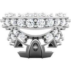 Platinum 1/6 CTW Diamond Accented Collar Component #3