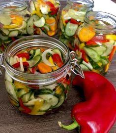 Sałatka z ogórków do słoików - Blog z apetytem Preserves, Pickles, Cucumber, Salads, Food And Drink, Menu, Jar, Drinks, Kitchen