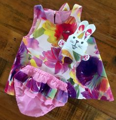 Floral swing dress set easter gift baby girl dress set frilly floral swing dress set easter gift baby girl dress set frilly knickers baby girl outfit baby shower gift baby gift set bunny negle Image collections