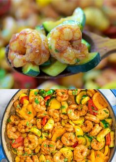 This Easy Shrimp and Vegetable Skillet makes a healthy, quick, and delicious dinner! Packed with wild-caught shrimp, tender zucchini, and sweet bell peppers, it is going to become your favorite seafood dish! FOLLOW Cooktoria for more deliciousness! If you try my recipes - share photos with me, I ALWAYS check!