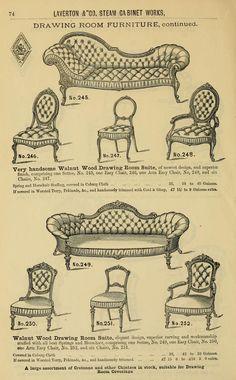 """Bristol Steam Cabinet Works. Laverton & Co. General House Furnishers, Upholsterers & Carpet Warehousemen"" 1875. (183 pages, full text online)"