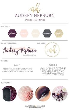 Design Studio | Branding | Business Branding | Brand Board | Branding Kit Logo Design | Rose Gold Logo | Blush Pink Teal Color Scheme | Paint Brush Calligraphy Watercolor | Premade Submark Watermark Stamp | Blogger Photography