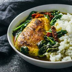 Chicken skillet with coconut milk curry