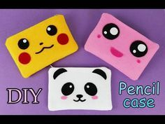 DIY Pencil Case I No Sew I Pikachu I Kawaii pencil case tutorial I Pokemon I DIY gifts. Hello everyone, here is my new DIY - How to make a pencil case, Easy and No Sew pencil case. THis is perfect for a gift or a family project. Pencil Case Tutorial, Diy Pencil Case, Pencil Cases, Diy Father's Day Gifts, Diy Gift Box, Felt Phone Cases, Pikachu, Diy Case, Christmas Gifts For Kids