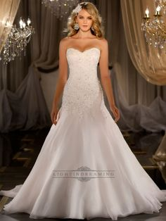 Silk Organza A-line Sweetheart Beaded Wedding Dress--absolutely beautiful!