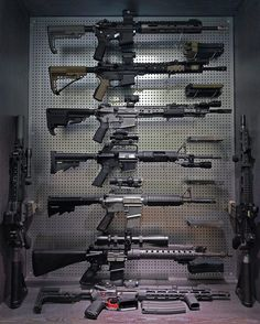 My friend TC posted this photo of his display. It looks clean and professional. What you are looking at is a DIY weapon display he made. It is just peg board that he painted silver. Fooled me. I thought it was metal sheets with holes. And to top it all off, those are not guns. … Read More …