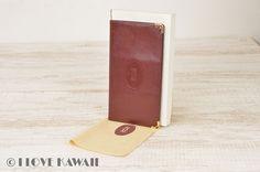 Cartier Wine Red Leather Must Line Bi Fold Wallet