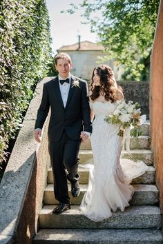 57d430e4f630 Monique Lhuillier and Black Tie Glamour for a Romantic Lake Como Wedding in  Neutral Shades.