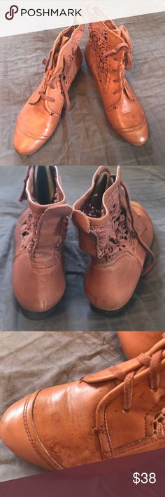 Super cute boots in 8.5 Super cute Anthropologie style booties from la Tigo on 8.5M. Have watermarks on one shoe, reflected in price, re-posh, have not worn them and they are in great shape and super cute, just have too many boots. Anthropologie brand for more exposure Anthropologie Shoes Ankle Boots & Booties