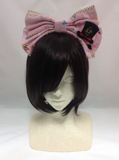 Star Night Theater Head Bow in Pink from Angelic Pretty - Lolita Desu