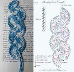 Marcador d libros en abanicos crochet