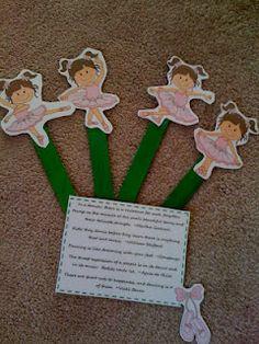 Free little ballerina sticks
