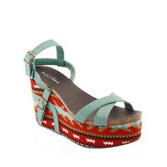 Genoa Wedge Sandal Green, $45, now featured on Fab.