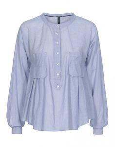 ETHOS: Bluse mit Vordertaschen.