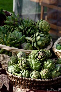 Artichokes at the Arcata Farmer's market in Northern California