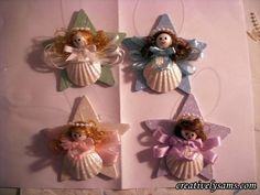 Shell Angels Super easy angel ornament tutorial made from sea shells