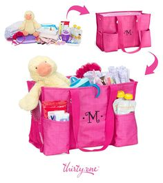 Store everything you need for the little ones in your life with an Organizing Utility Tote from Thirty-One!