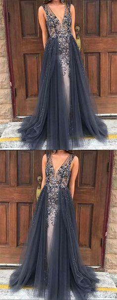 Long prom dress, V-neck prom dresses, sparkly prom dress, gorgeous prom dress, BD1398 #fitdesigndress#promdresses#prom#party#fashion#shopping