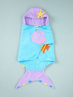 Mermaid towel - an adorable baby girl gift!