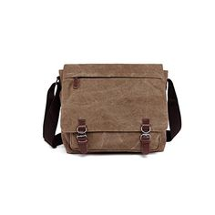 Kenox Vintage Classic Canvas Laptop Messenger Bag Crossbody School Bag  Business Briefcase Brown 16 Inches     Check this awesome image   3ab8bcba6a