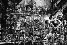 Bernie Wrightson: Frankenstein transparency production art, in Fredo Le's Bernie Wrightson Comic Art Gallery Room Scary Comics, Horror Comics, Marvel Comics, Horror Icons, Comic Book Artists, Comic Books Art, Comic Artist, Bernie Wrightson, The Frankenstein