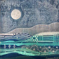 Moonscape Fantasy: monoprint, monotype print art, gelli print art, signed, graphic art print, unique Purple Haze, Buy Frames, Graphic Art, City Photo, Things To Come, Fantasy, Art Prints, Landscape, Abstract