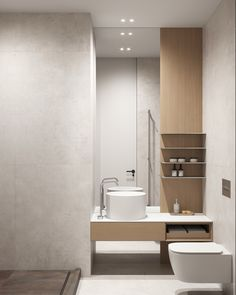 Guest bathroom #guestbathroom #modernbathroom #minimalisticbathroom #ideasforbathroom #minimalism #minimalisticarchitecture #minimalisticinterior #architecture #modernarchitecture #design #minimalisticdesign #bathroom Laundry In Bathroom, Bathroom Lighting, Toilet, Minimalism, Bathtub, Mirror, Interior, Furniture, Bathrooms