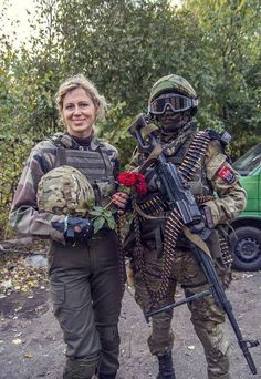Beauty at the frontline - The Right Sector soldiers.