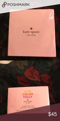 Kate Spade Perfumed Body Cream Live Color Fully body cream. New. Another gift never used. I am allergic to perfumed lotions. kate spade Other