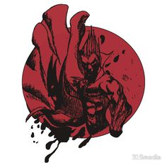Demitri the Vampire #Darkstalkers themed red and black sticker for #Halloween and #Vampire fans