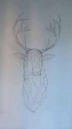 objets fils de fer sculptures et objets: Dans la forêt un Grand Cerf ...