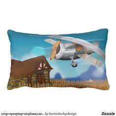 crop+spraying+airplane,cartoon+crop+sprayer,bi+pla pillows