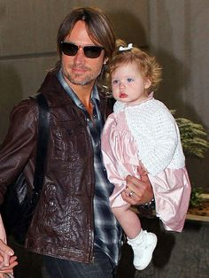 Keith Urban and his daughter Faith.