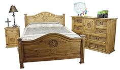 Texas bedroom set...LOVE IT so much that this is now almost the exact furniture I have in my master bedroom ;)