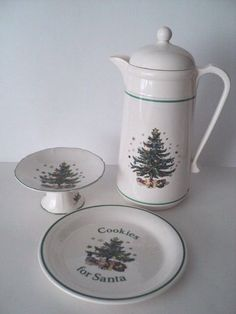 3 Nikko Happy Holidays Thermos Carafe Christmas Tree comport Cookies for Santa & Dinnerware Depot - Dinnerware Sets Fine China Dishes Tableware ...