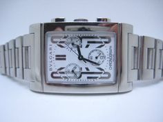 BVLGARI Recttangolo Chronograph Steel Swiss Made Mint Condition