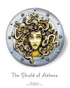 Medusa shield, part of the myths.