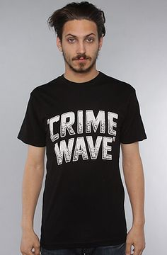 The Crime Wave Tee in Black by Freshjive