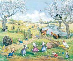 ''Springtime on the Farm'' - Molly Brett