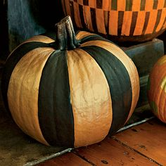 Painted pumpkins: stripes | SouthernLiving.com