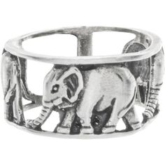 Walking Elephant Knuckle Ring (338.000 IDR) ❤ liked on Polyvore