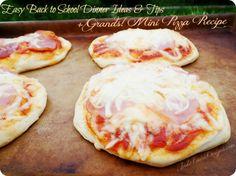 Back to School Easy Dinner Ideas & Tips Plus Grands! Mini Pizza Recipe #PillsburyBiscuits #sponsored