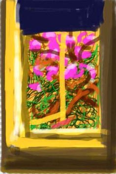 2009 iPad Drawing, by David Hockney (British, David Hockney Ipad, David Hockney Art, Iphone Drawing, Pop Art Movement, Ipad Art, Painting Wallpaper, Contemporary Artists, Graphic Illustration, Abstract