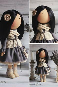 Textile doll handmade, art doll, tilda doll, baby doll handmade